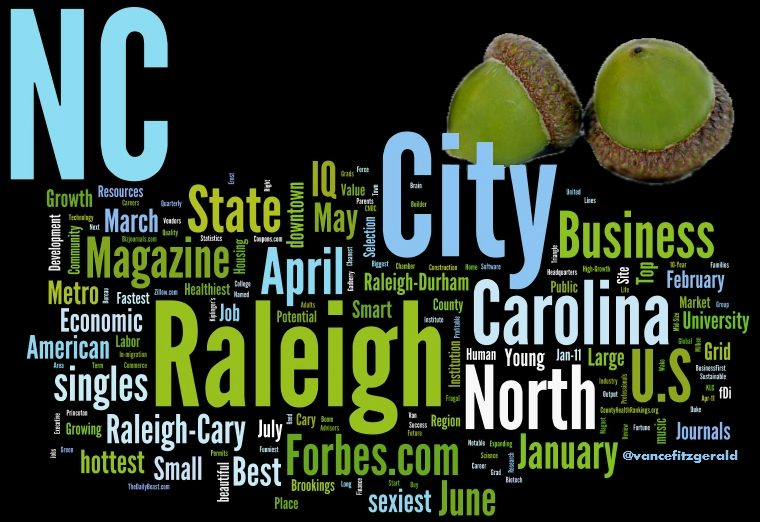 2011 Raleigh Top City Accolades